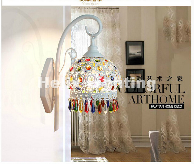 Tiffany Decor Wall Lamp Baroque Colorful Mounted Light For