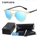 2017 new sunglasses retro round frame sunglasses colorful polarizing glasses trend