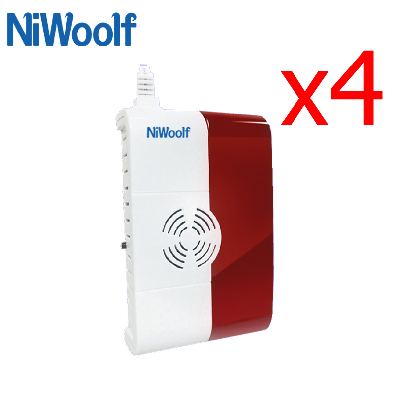 433MHz Wireless Natural Gas Leak Detector , Carbon Monoxide Sensor Alarm For Wifi / GSM / PSTN Home Burglar Alarm System батут optifit like blue 8ft верхняя защитная сеть лестница крыша d244 h63