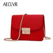 2b39be36115d AECLVR Маленькая женская сумка из искусственной кожи Сумка-клатч  дизайнерская мини сумка на плечо женская