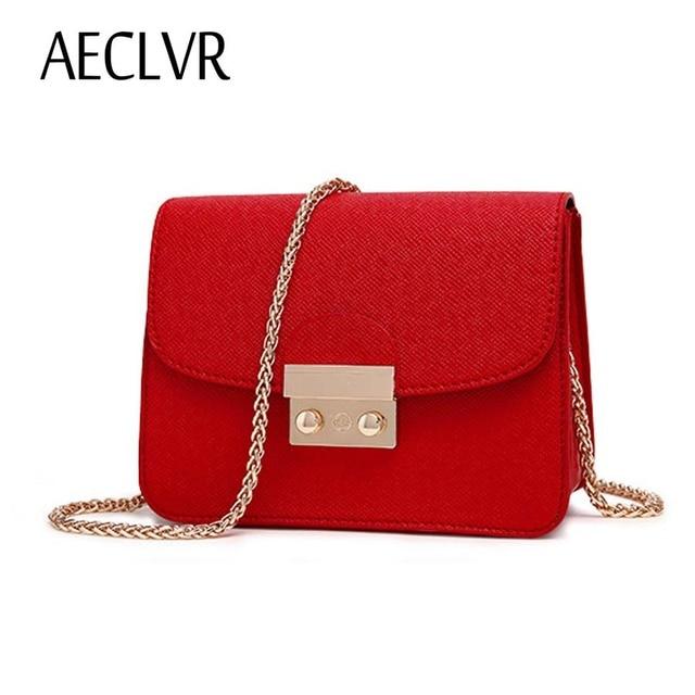 58782b69ca54 AECLVR Маленькая женская сумка из искусственной кожи Сумка-клатч  дизайнерская мини сумка на плечо женская