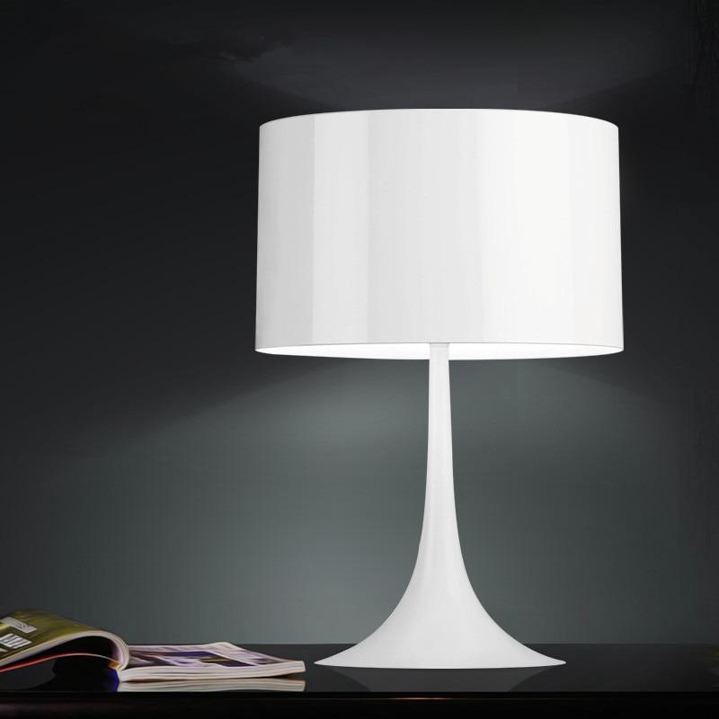 GZMJ Small Gentleman Table Lamp 500mm*300mm Black/White Modern Led Light Desk Lamp Lamparas De Mesa for Home Bedroom Fixture metal mushroom modern table lamp light bedroom desk lighting white black gold compasses candeeiro de mesa