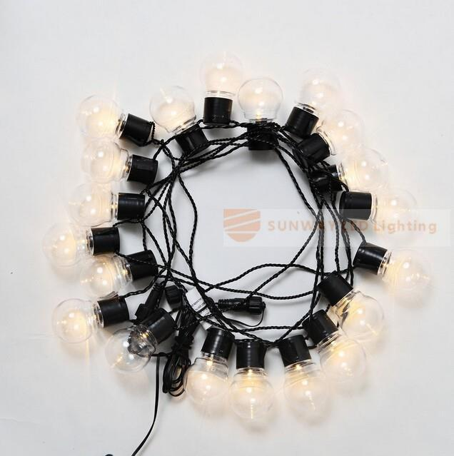 aliexpresscom buy novelty 20 led g45 globe connectable festoon party ball string lamps led christmas lights fairy wedding garden pendant garland from