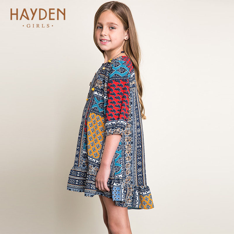 Girls Fashion Clothes: HAYDEN Bohemia Girls Dresses Summer Costumes 10 12 14Y