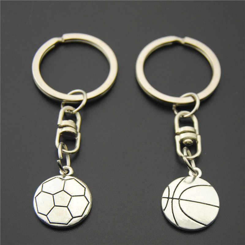1 шт. баскетбольные брелоки футбол с футбольным мячом, металлический брелок оптом для спорта подарок для мужчин E822/E823