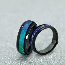 Titanium Black Mood Rings Temperature Emotion Feeling Engagement Rings Women Men