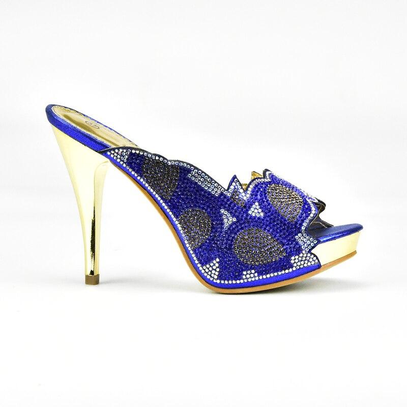 Con Imitación Bolsa oro verde Decorado rojo Diamantes Africana Y Fiesta Alta Color Zapatos Azul Calidad Bolso Negro azul De Italia wY71zA