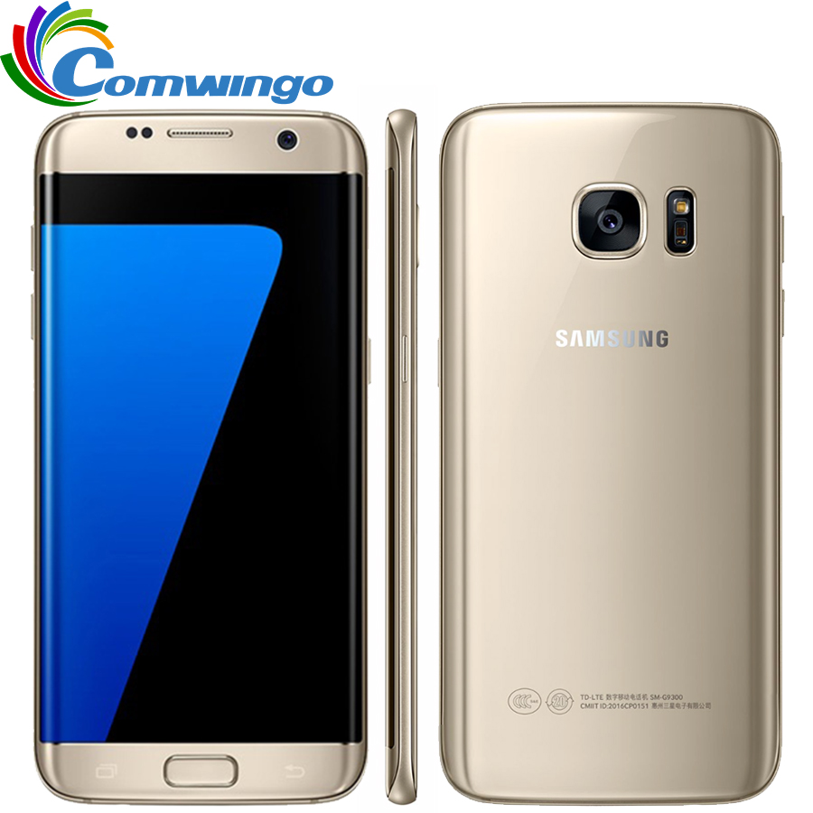 Original Samsung Galaxy S7 Edge Waterproof Smartphone 5.5'' 4GB RAM 32GB ROM Single SIM Quad Core NFC 12MP 4G LTE Cellphone