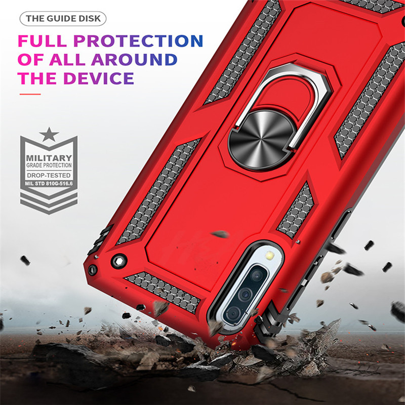 Image 3 - H&A Luxury Shockproof Phone Case For Samsung Galaxy A60 A70 A80 A90 A50 A40 A30 A20 A10 Magnetic Ring Stand Cover M10 M20 Case-in Fitted Cases from Cellphones & Telecommunications