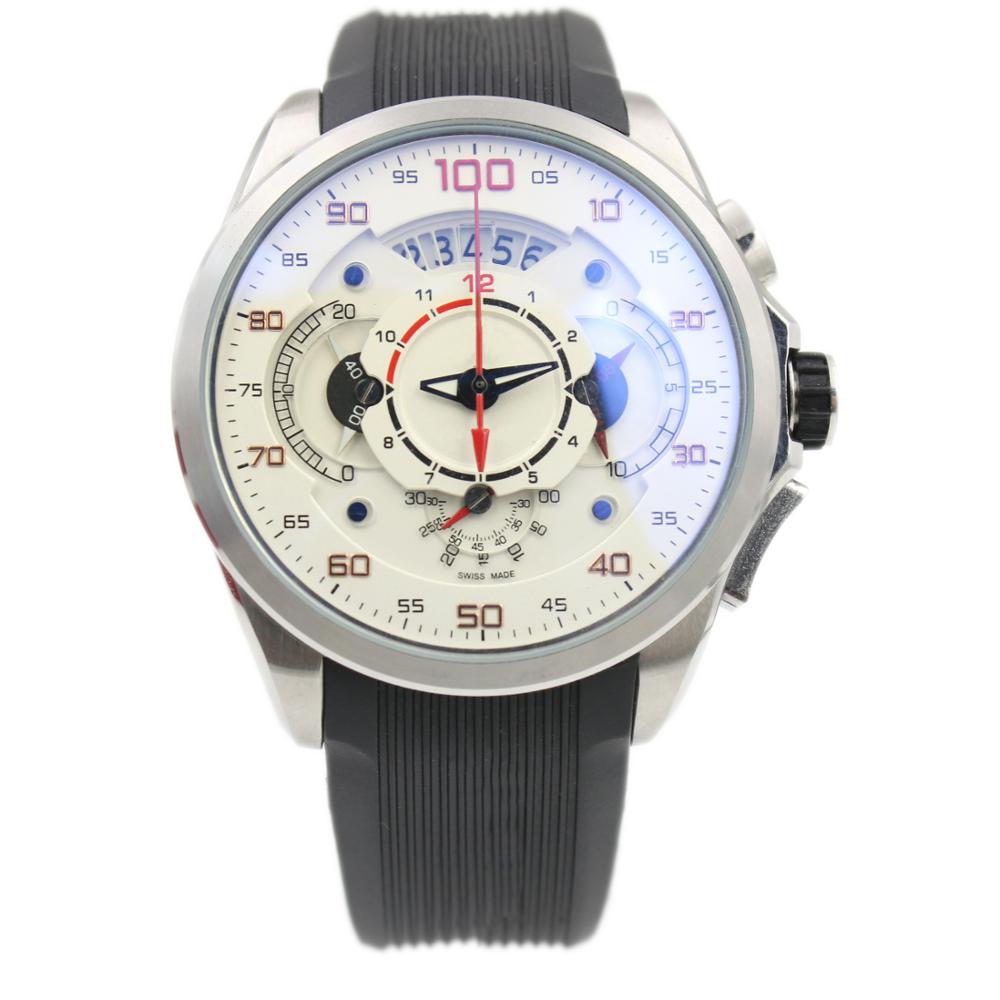 Tag SLS hommes montres de Sport de luxe chronographe bande de caoutchouc montre à Quartz marques de mode Calibre100 benz montres hommes