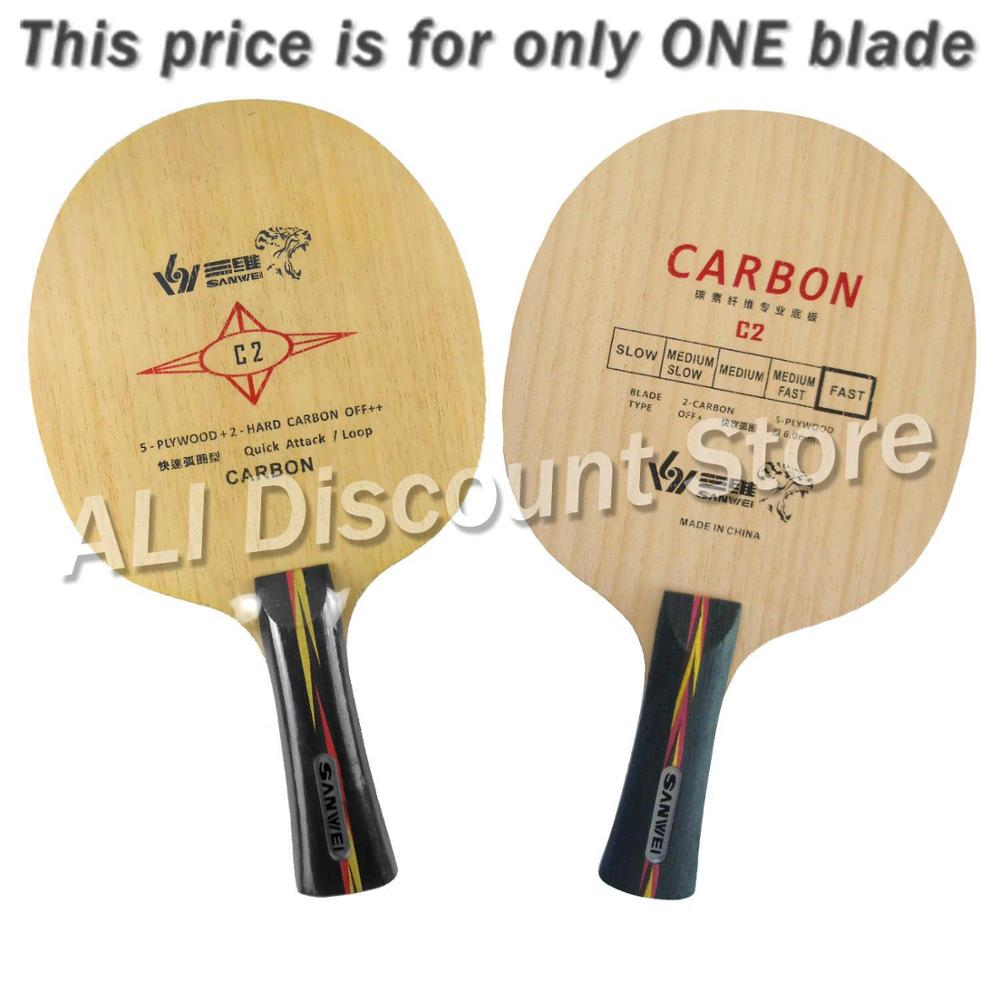 Galleria fotografica Sanwei Blade C2 Potent Carbon (Sanwei C-2 Sanwei C 2) Table Tennis Blade for Ping Pong Racket Paddle Racquet Sports