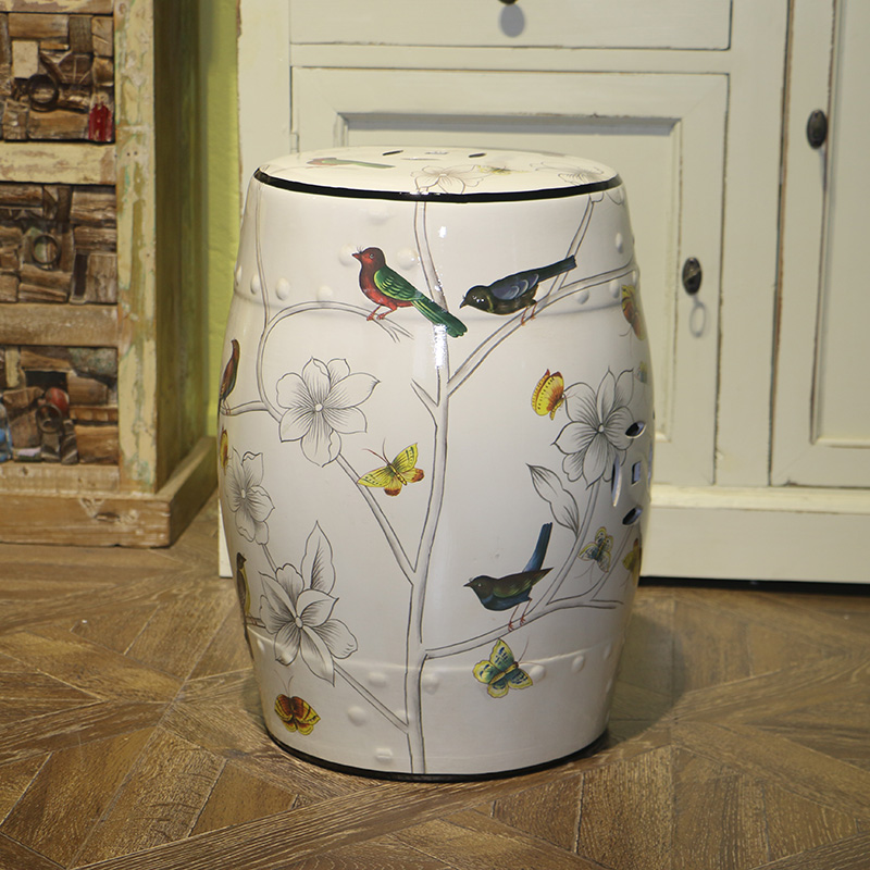 Modern chinese decorative ceramic drum stool for home and garde decoraton armstrong j fraser cavassoni n unbridaled marriage of tradition and avant garde