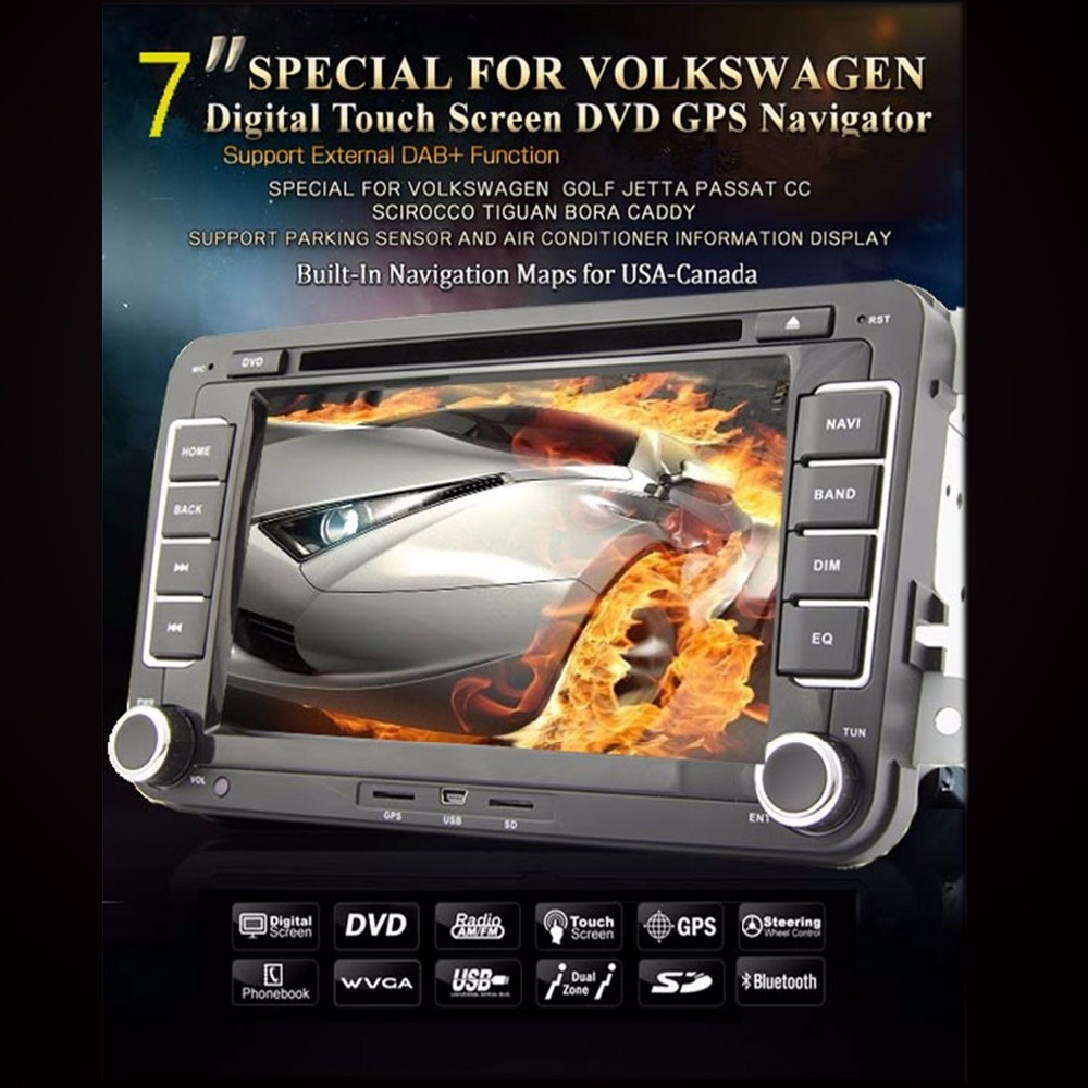 2 din car dvd for vw