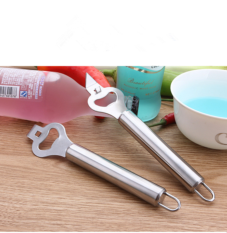 1PC New 2 In 1 Can Opener Stainless Steel Manual Can Opener Bottle Opener Easy Can Opener KX 251