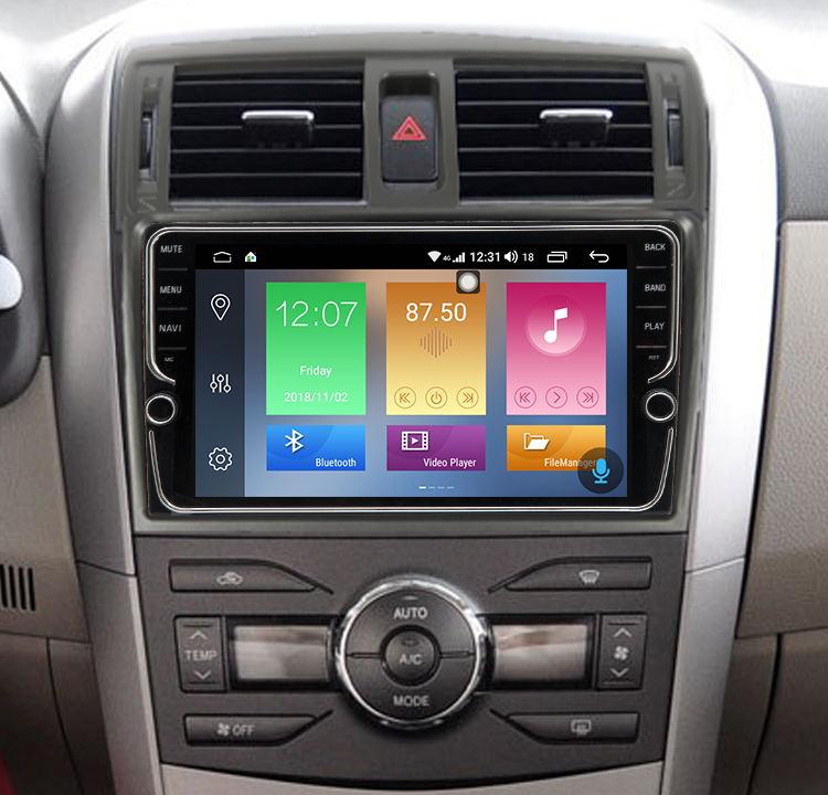 9 дюймов Android 8,1 для Toyota Corolla 2007 2013 автомобиля радио мультимедиа DVD плеер навигации gps Поддержка 4 г сети