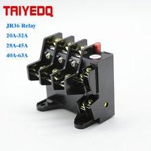 Przekaźnik termiczny JR36-63 przekaźnik zabezpieczający przed przeciążeniem przekaźnik termiczny 220v 20A-32A 28A-45A 40A-63A
