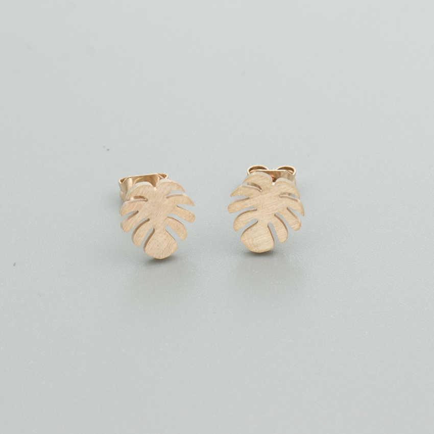 هاواي النخيل شجرة أقراط مجوهرات الأزياء الفولاذ المقاوم للصدأ الشاطئ جوز الهند شجرة الأسود أقراط للنساء Oorbellen BFF هدايا