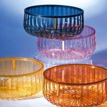 Современный модный дизайн, прозрачный низкий столик, журнальный столик для гостиной, чайный столик, цветной, приятный столик для хранения