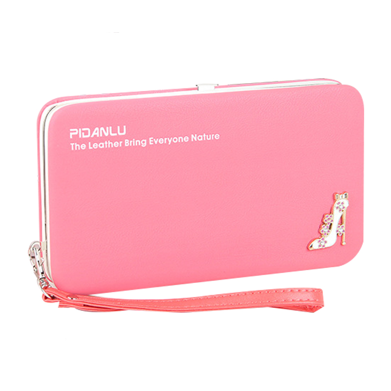 2017 Mini Hasp Female Dull Polish Leather Wallet Women Luxury Brand Purse Ladies Long Clutch Phone Slim Womens Wallets Purses