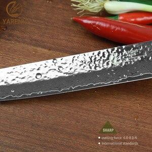 "Image 5 - YARENH 8 ""meat Cleaver พร้อม Micarta Handle มีดครัวญี่ปุ่นดามัสกัสเหล็กมีดซาชิมิมีดทำอาหารจัดส่งฟรี"
