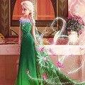 Primavera Otoño Traje Para Las Muchachas Cartton elza Anna Elsa disfraz Vestido de Los Niños Vestidos de princesa de Halloween disfraces Vestido de rapunzel