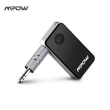 Mpow Mini receptor Manos Libres, Adaptador Inalámbrico A2DP con Cable USB-Micro y Adaptador de Jack-Jack para Coche Tablet Movíl Dispositivos IOS y Android MP3