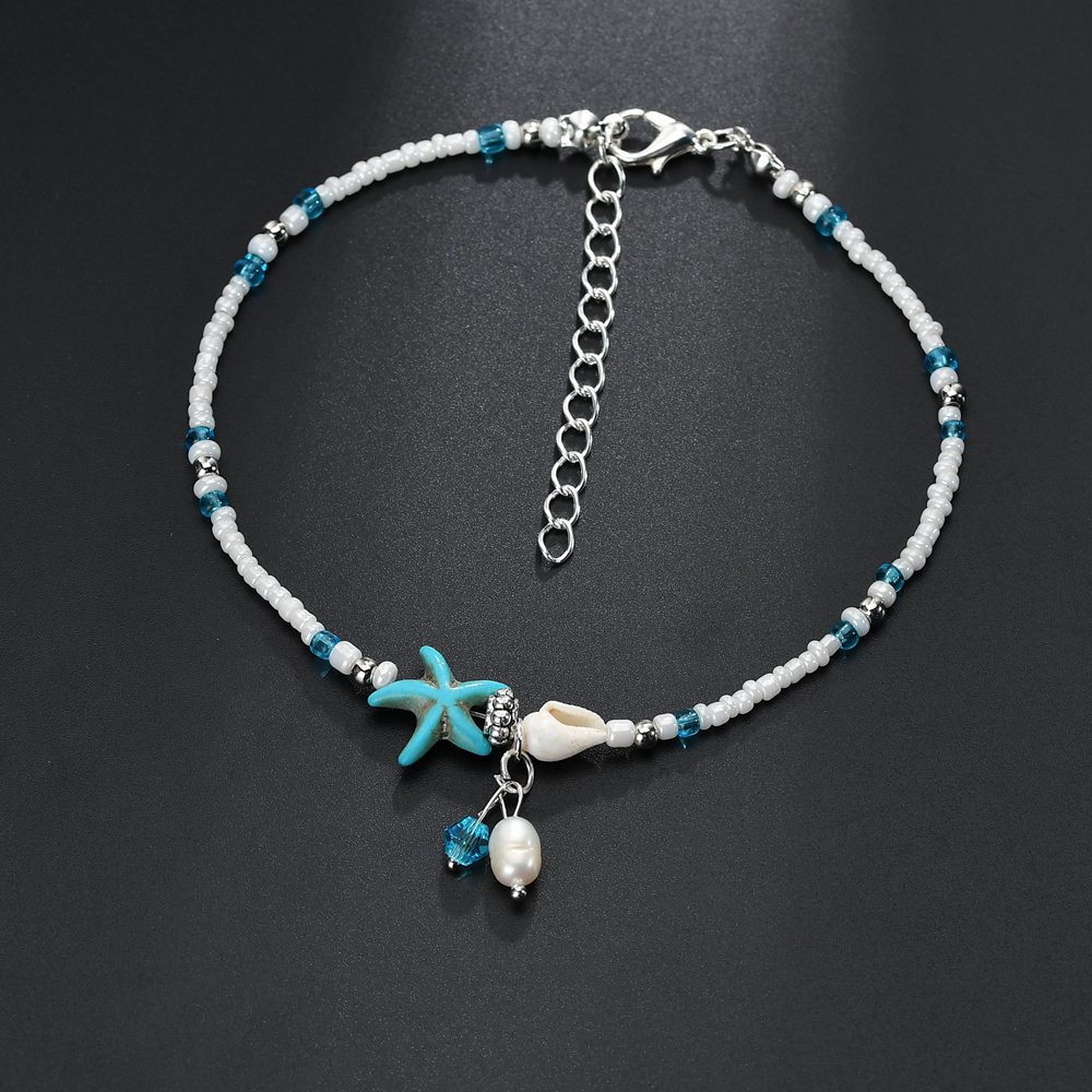 Vintage Shell Beads Starfish Anklets For Women New Multi Layer Anklet Leg Bracelet Handmade Bohemian Jewelry Sandals Gift 2