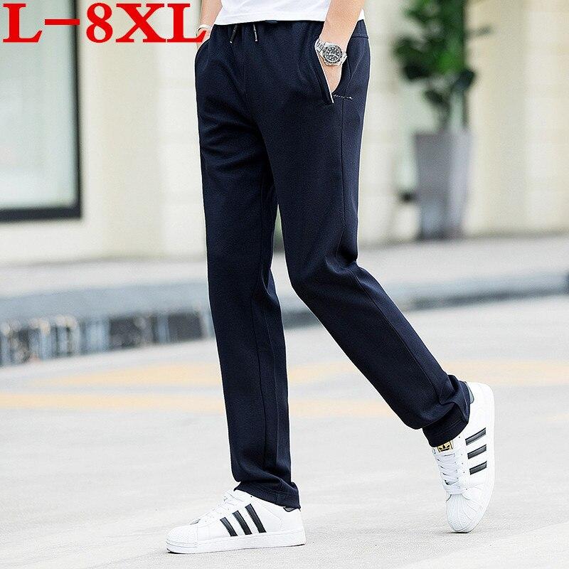 2018 plus size 8XL 9XL 10XL 7XL New Sweat Pants Men Joggers Pants Elastic Waist Loose Sweat Pants For Men Casual Trousers homme