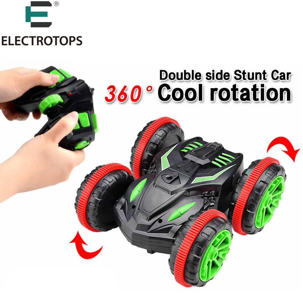 ET Rc Car Amphibious Vehicle Double-Sided Stunt Car 1/18 Scale 360 degree Rotate Model 2.4Ghz 4WD Remote Control Car 333-SL01B