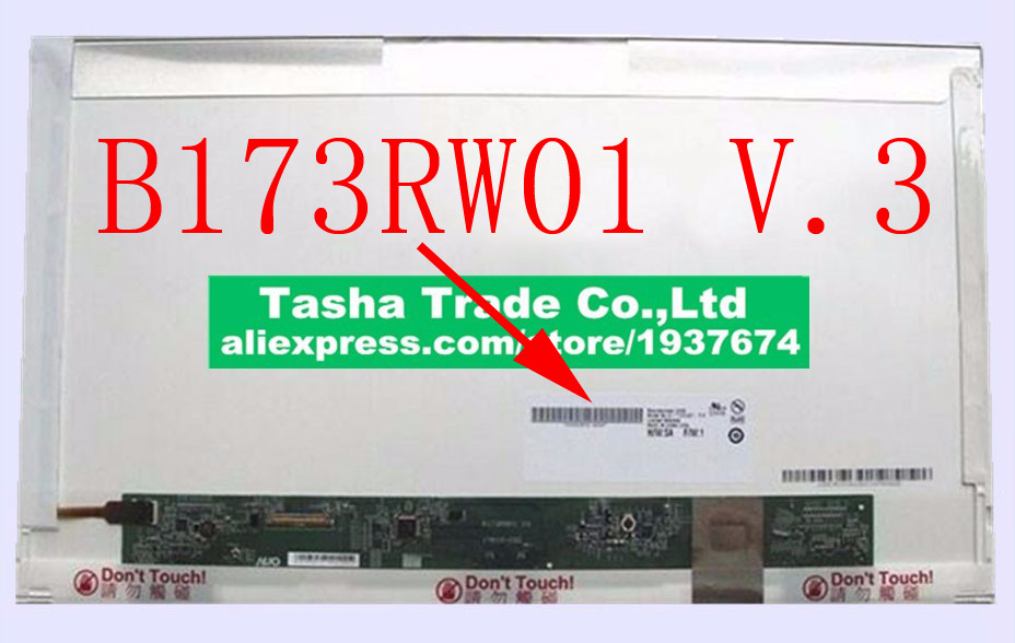 B173RW01 V.3 HD+ 1600*900 LCD Laptop LCD Screen B173RW01 V3 Matrix Replacement  Original original a1706 a1708 lcd back cover for macbook pro13 2016 a1706 a1708 laptop replacement
