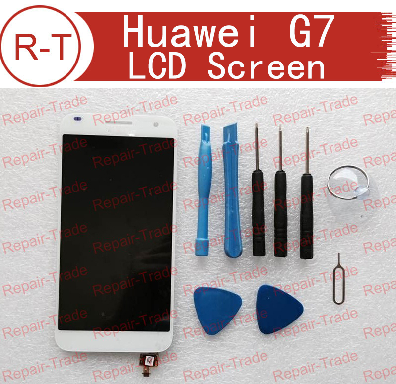 For Huawei Ascend G7 LCD Display Screen Replacement With Touch Screen Glass Replacement For Huawei G7 Mobile Phone Free Shipping replacement original touch screen lcd display assembly framefor huawei ascend p7 freeshipping