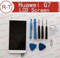 Para huawei ascend g7 lcd screen display substituição com tela sensível ao toque de substituição de vidro para huawei g7 telefone móvel frete grátis