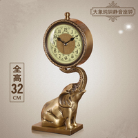 2017 Meijswxj European Clock Saat Reloj Relogio Bracket Clock Pure copper Bedside Mute Living room Table clocks Masa Saati Watch