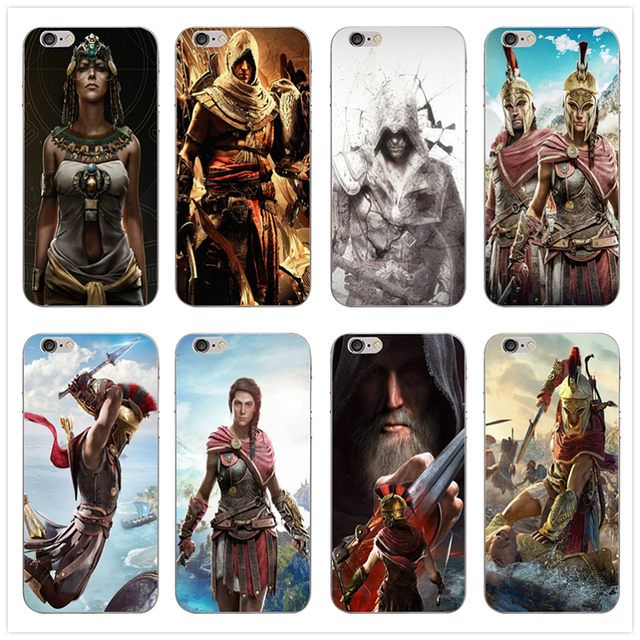 Soft TPU Silicone Cell Phone Cases for iphone X Case Back Cover for iphone 6S 7 8 Plus 4 4S 5 5S SE Bags Assassins Creed Odyssey