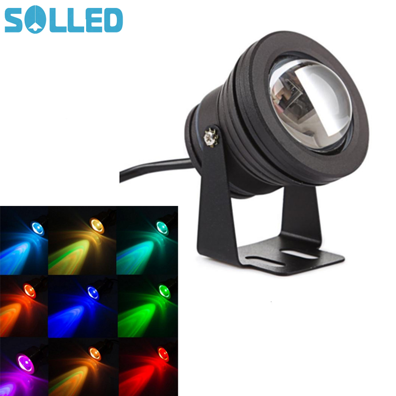 SOLLED 10W RGB LED Flood Light IP 67 Waterproof LED Security Light Changeable Colors & Modes with Remote Control US Plug