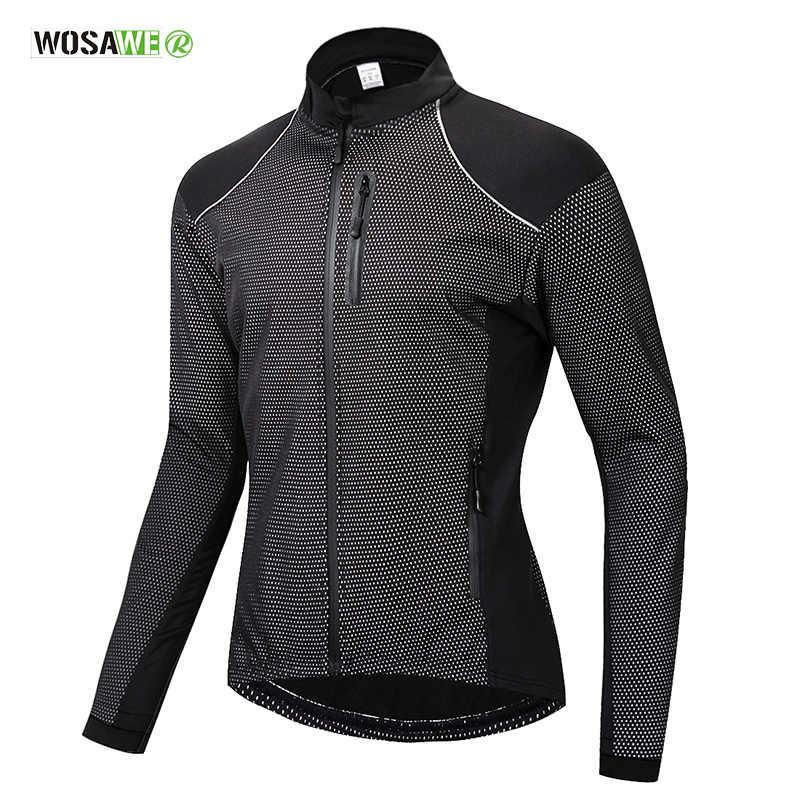 WOSAWE мужская куртка для велоспорта Зимняя Теплая Флисовая дорожная одежда для горного велосипеда спортивная ветрозащитная куртка для верховой езды