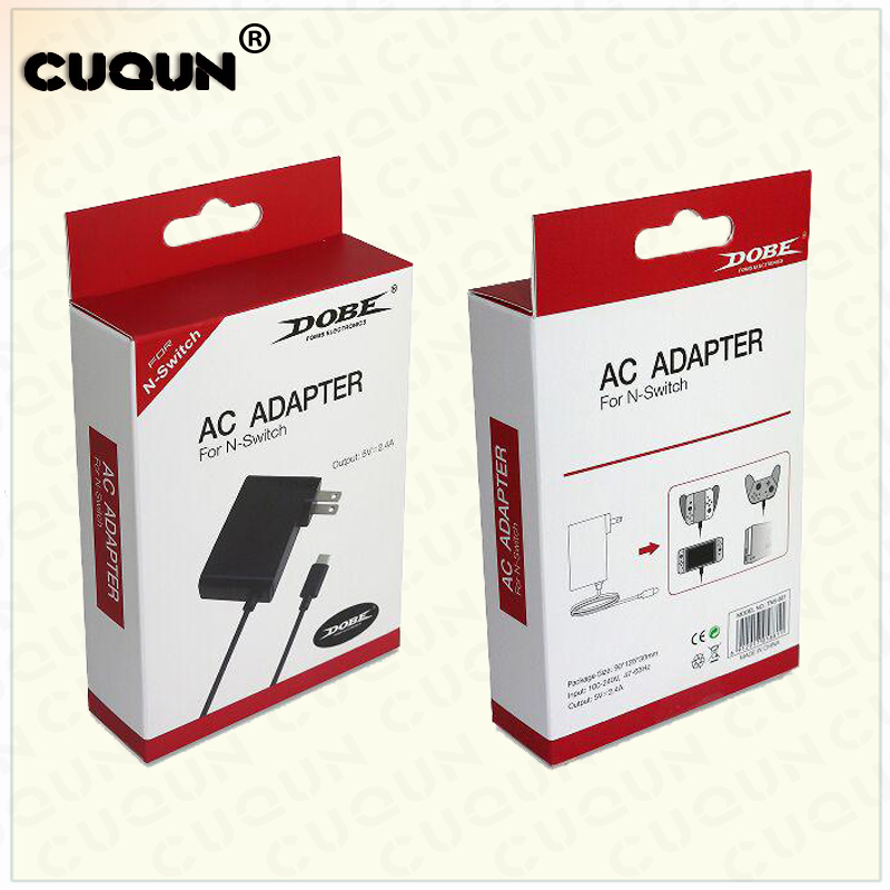 Fast Charge AC Adapter for Nintend Switch Game Console Power Charger with Transformer Handle Charging Cat Hosting Charger Power