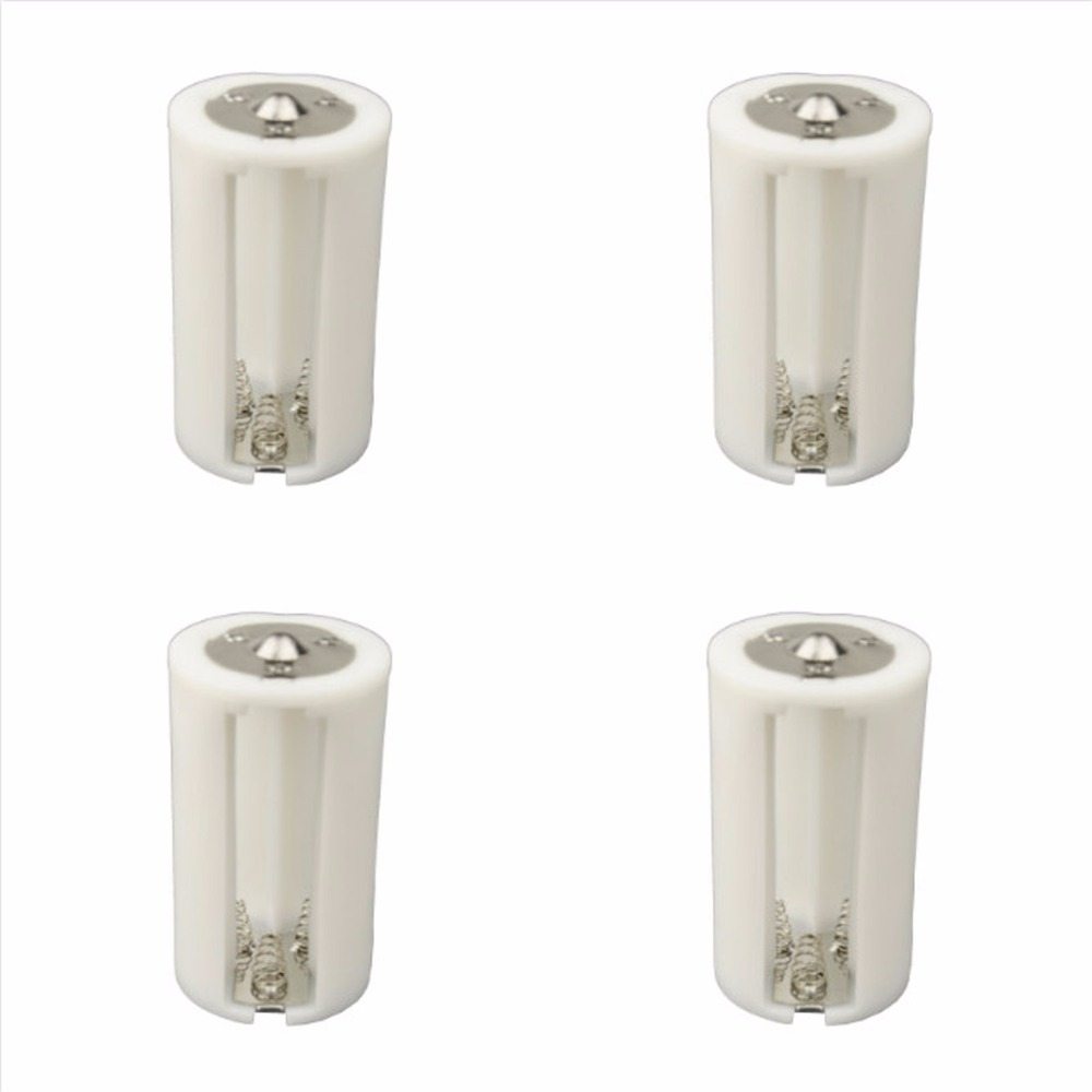 DSLRKIT 4pcs/lot Parallel <font><b>Adapter</b></font> <font><b>Battery</b></font> Holder Case Box Convertor 3 AA/LR6 to 1 <font><b>D</b></font> Size image