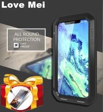 حافظة غوريلا زجاجية LOVE MEI قوية لهاتف آيفون SE 2020 11 Pro X XS Max XR حافظة لهاتف آيفون 8 6 6s 7 Plus حافظة مضادة للماء