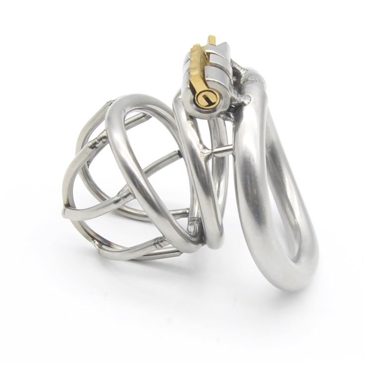 New-High-quality-Male-Chastity-Device-Bird-Lock-Stainless-Steel-Cock-Cage-Sex-toys-A224-1