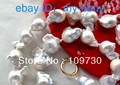 Jewelry 00298 Unusual White Gray Keshi Keishi Baroque Pearl Necklace