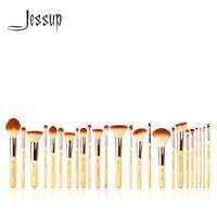 Jessup 6 шт./8 шт./10 шт./15 шт./20 шт./25 шт. бамбуковые Профессиональные кисти для макияжа, набор, красота, основа, пудра, тени для век, Кисть для макияжа