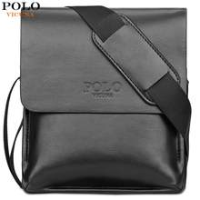 VICUNA POLO Famous Brand Leather Men Bag Casual Business Leather Bag Set Man Messenger Bag Vintage Crossbody Bag bolsas male(China)