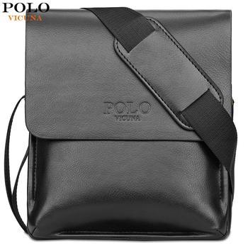 VICUNA POLO famosa marca de cuero bolso de los hombres de negocios Casual bolsa de cuero conjunto hombre mensajero bolso Vintage bandolera bolsas hombre