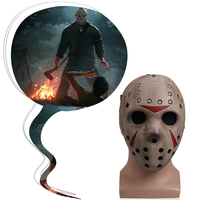 Hot Game Friday The 13th Mask Cosplay Jason Butcher Masks Terror Horror Resin Adult Halloween Party