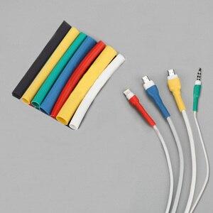 Image 2 - 1 متر كابل حامي الحرارة يتقلص أنبوب المنظم الحبل إدارة غطاء ل أندرويد آيفون 5 5s 6 6s 7 7p 8 8p xs سماعة MP3 USB