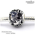Sorcerer Mouse Fantasia 75th Anniversary Charm Authentic 925 Sterling Silver Beads for Jewelry Making DIY Fit Pandora Bracelets
