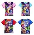 girls t shirt short sleeve kids t-shirt cartoon inside out girl & boy t-shirt high quality 2017 summer brand kids girl clothes