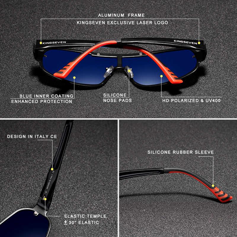 Солнцезащитные очки KINGSEVEN, брендовые поляризованные солнцезащитные очки из алюминия со встроенным стеклом, HD