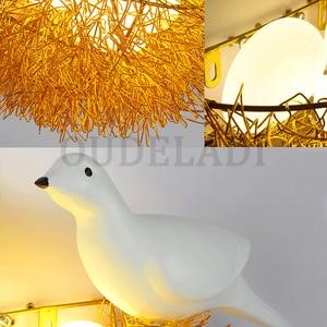Image 5 - Bird Nest LED Wall Lamp Children Bedroom Study Room Restaurant Decoration Novelty Wall Light With 3D Birds Art Lamp